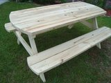 Large Custom Built Picnic Tables in Camp Lejeune, North Carolina
