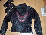 Womens Leather H-D Jacket & Gloves in Camp Lejeune, North Carolina