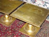 pair of vintage gold tables in Plainfield, Illinois