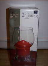 TWO PIECE FLOATING PILLAR CANDLE - $7 in Fort Hood, Texas
