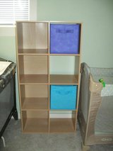 cube organizer+2 bins-turquoise/pink in Wilmington, North Carolina