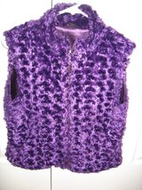 Soft Purple Faux Fir Vest size s/m in Fort Benning, Georgia