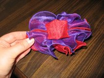 Red and Purple Tulle hairclip NEW in Columbus, Georgia